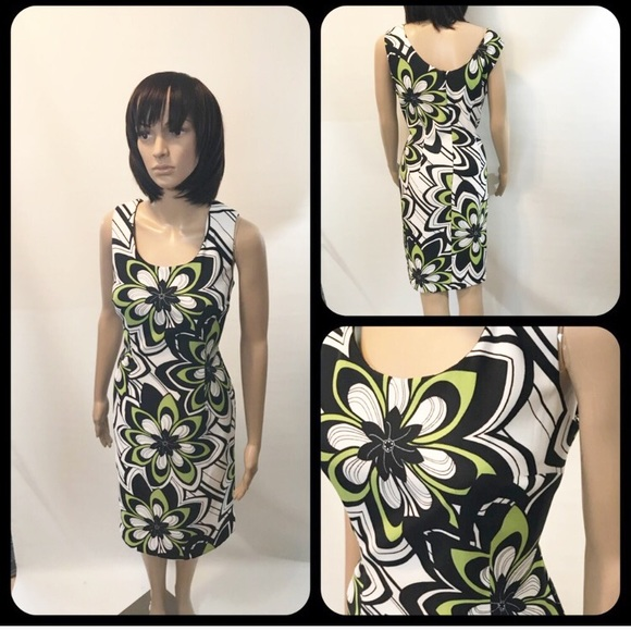 Dress Barn Dresses Dressbarn Greenblackwhite Sleeveless Dress